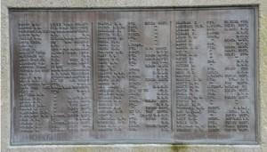 North face Dawlish War Memorial