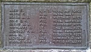 Supplementary panel Dawlish War Memorial